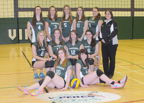 Twenty years of athletic participation was recently celebrated at College Boreal, as members of the Viperes, including the ladies volleyball team (above) gathered for the year-end banquet