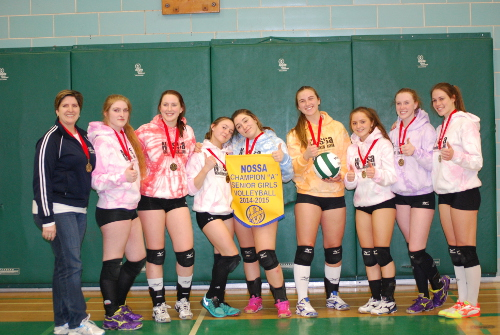 The College Notre Dame Alouettes senior girls volleyball team will join Lo-Ellen Park in making the trek to OFSAA early next month after capturing the NOSSA A title in Espanola last week