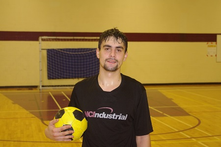 While Danny Radu (above) and his teammates may not have claimed one of the top two spots in the Adult Competitive division of the Sudbury Futsal Tournament, the native of Romania was pleased to do battle with some of the best teams in the province