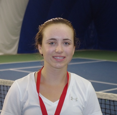 Securing her third individual high school championship of the season, Gracen Lacko of Lo-Ellen joined Darren De Paolis of Lasalle as singles tennis gold medal winners last week