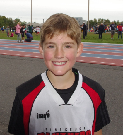 Ian Mackenzie of Pinecrest was one of only two local runners who finished first as six races were staged at the 2015 Laurentian Elementary Cross-Country Challenge this week