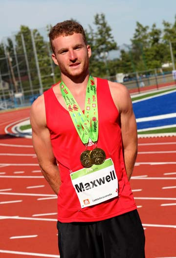 Seen here following the Provincial Legion Meet in July of 2013, Joseph Maxwell has recently returned from competing at the World Youth Championships in Colombia