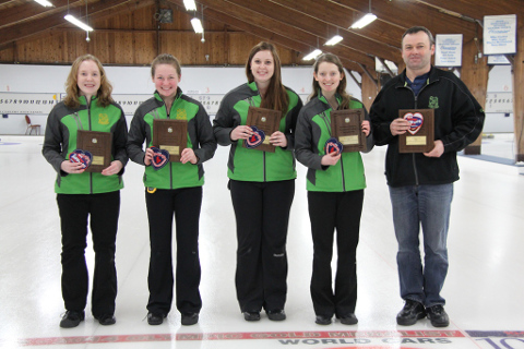 The Krysta Burns Idylwylde Jr ladies curling rink are in Newfoundland this week, competing in the M & M Meat Shops Canadian Championships for a second straight year