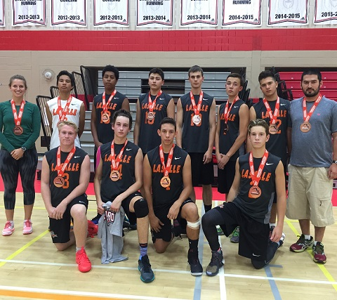Winners of four separate tournaments this fall, the Lasalle Lancers senior boys volleyball team added a SDSSAA championship banner to the mix on Sunday, sweeping the Lockerby Vikings in three sets