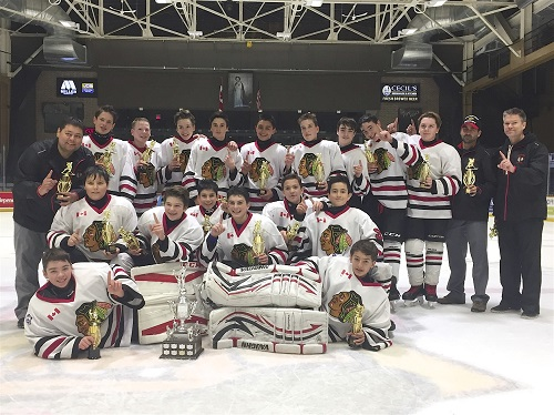 A 7-1 win over the Orangeville Flyers lifted the Copper Cliff Minor Bantam AA Redmen to a tournament championship banner in North Bay