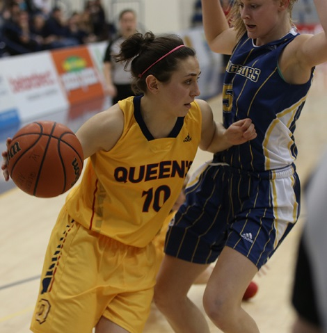 Lo-Ellen Park product Marianne Alarie looks to continue to build on an outstanding second year at Queens, working out with the Gaels womens basketball team this summer