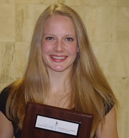 An accomplished swimmer and distance runner, College Notre-Dame junior Nina Kucheran was named High School Female Athlete of the Year at the Hall of Fame Dinner on Wednesday
