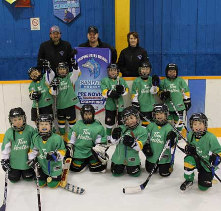 It was a noisy dressing room, to be sure, as the Rayside-Balfour Wildcats celebrated their victory in the championship game of the Onaping Falls Huskies Tournament Pre-Novice Division