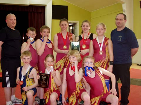 The youngsters representing the Sudbury Regional Wrestling Club enjoyed the chance to expand their horizons, heading to New Brunswick for the Canada East championships in early May