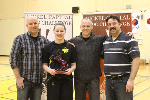 Sarra Gratton became the first female to capture the Adult Mens and Womens Black Belt Sparring division as the Nickel Capital Budo Challenge hosted their 18th annual competition
