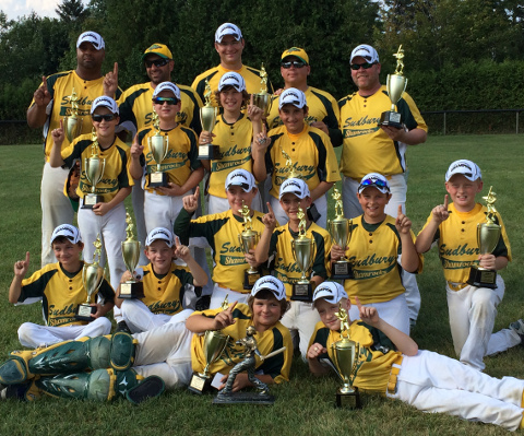 The Sudbury Mosquito Shamrocks claimed the SOBA provincial championship Sunday afternoon, bouncing the Mississauga Twins 10-4 in the final