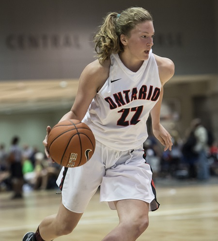 Sudbury native Sophia Zulich and her Team Ontario teammates will begin playoff action tonight in Regina at the National U15 Girls Basketball Championships