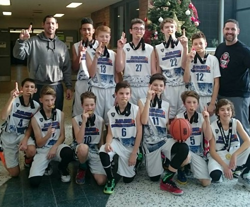 The Sudbury 14U Jam captured the MUMBA Tournament in Markham recently, pulling away from the Guelph Gryphons 65-41 in the final